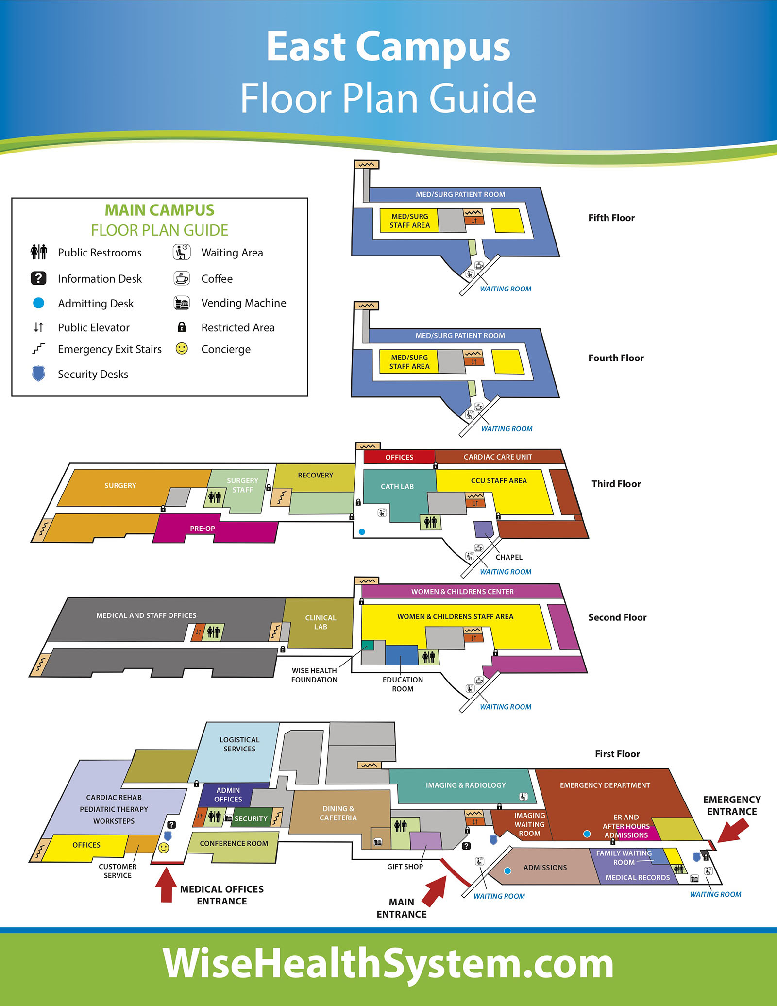 WHS East Campus Map